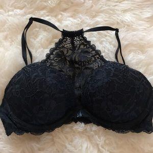 Victoria secret black lace push up bra